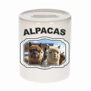 Dieren alpaca spaarpot alpacas/ alpacas spaarpotten kinderen
