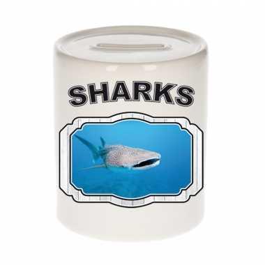 Dieren walvishaai spaarpot sharks/ haaien spaarpotten kinderen