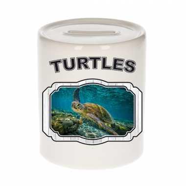 Dieren zee schildpad spaarpot turtles/ schildpadden spaarpotten kinderen