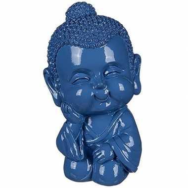 Kinder boeddha spaarpot blauw
