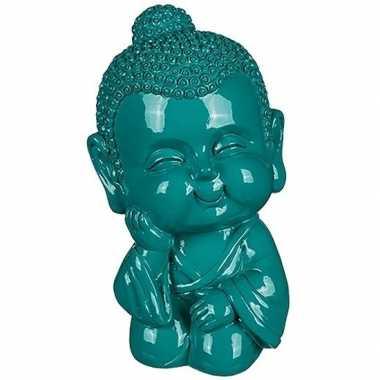 Kinder boeddha spaarpot groen