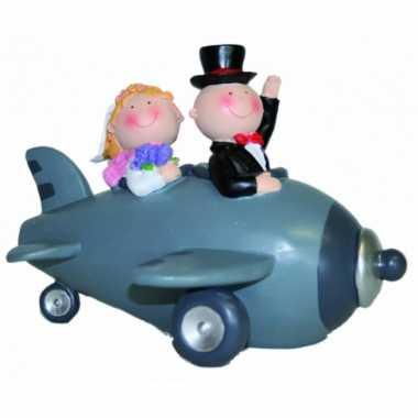 Kinder  Bruidspaar vliegtuig spaarpot