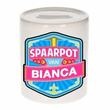 Kinder cadeau spaarpot een bianca