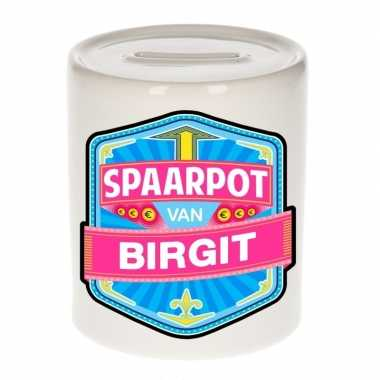 Kinder cadeau spaarpot een birgit