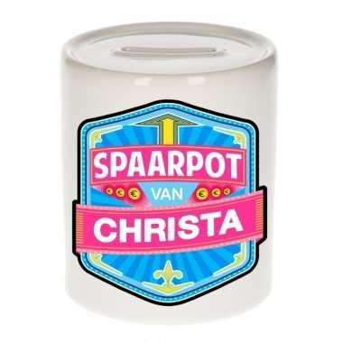 Kinder cadeau spaarpot een christa