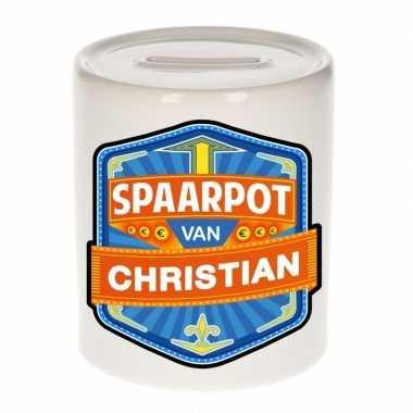 Kinder cadeau spaarpot een christian