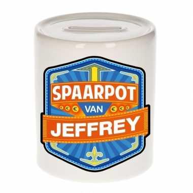 Kinder cadeau spaarpot een jeffrey