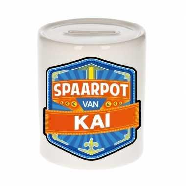 Kinder cadeau spaarpot een kai
