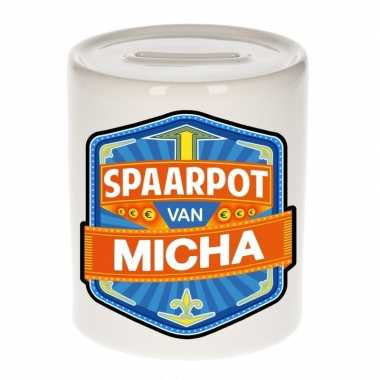 Kinder cadeau spaarpot een micha