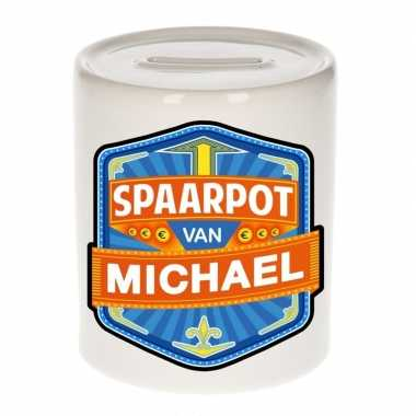 Kinder cadeau spaarpot een michael
