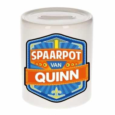 Kinder cadeau spaarpot een quinn