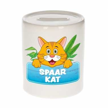 Kinder cadeau spaarpot kat / poes rood
