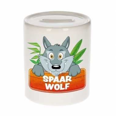 Kinder cadeau spaarpot wolf