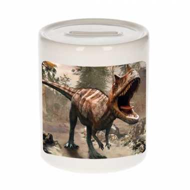 Kinder dieren foto spaarpot carnotaurus dinosaurus dinosaurussen spaarpotten jongens meisjes