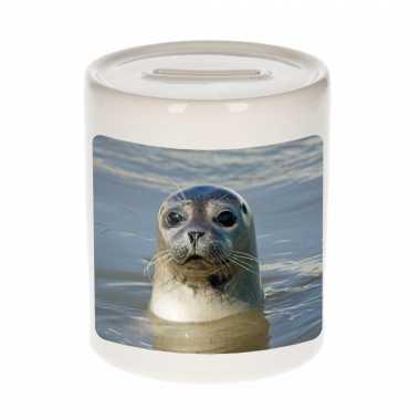 Kinder dieren foto spaarpot grijze zeehond zeehonden spaarpotten jongens meisjes
