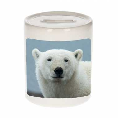 Kinder dieren foto spaarpot grote ijsbeer ijsberen spaarpotten jongens meisjes