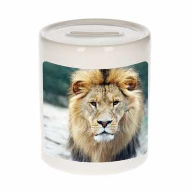 Kinder dieren foto spaarpot leeuw leeuwen spaarpotten jongens meisjes