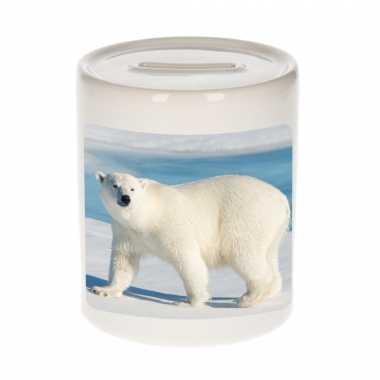 Kinder dieren foto spaarpot witte ijsbeer ijsberen spaarpotten jongens meisjes