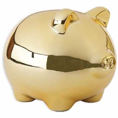 Kinder dieren spaarpot goud varken/big