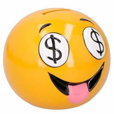 Kinder emoji spaarpot dollar eyes