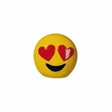 Kinder emoji spaarpot harten ogen