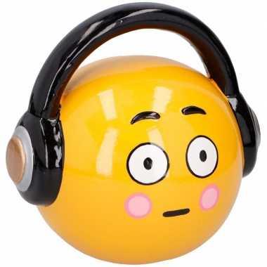 Kinder emoji spaarpot headphone