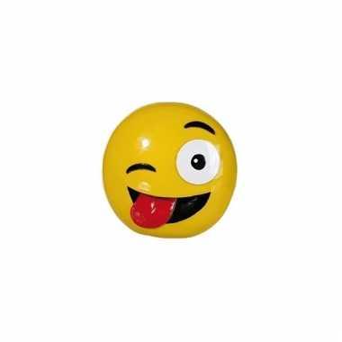 Kinder emoji spaarpot tong