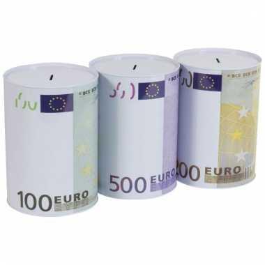 Kinder euro blik spaarpot
