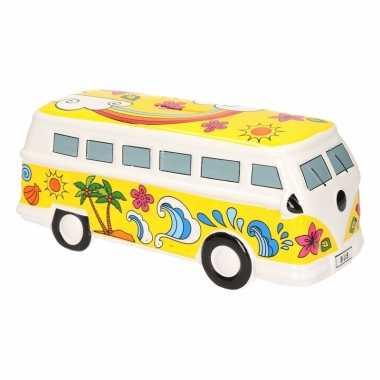 Kinder gele porseleinen autobus spaarpot