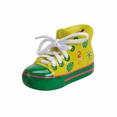 Kinder gele schoen spaarpot