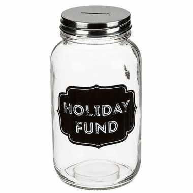 Kinder glazen spaarpot holiday fund
