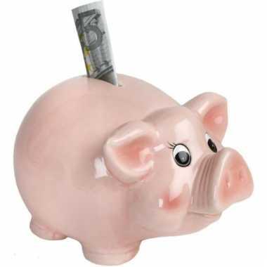 Kinder kado roze spaarvarken spaarpot