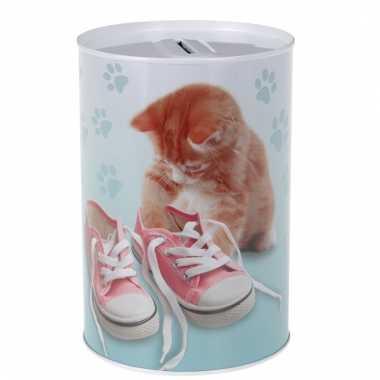 Kinder katten/poezen schoenen spaarpot
