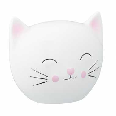 Kinder kattenhoofd spaarpot wit