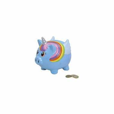 Kinder  Keramieken eenhoorn spaarpot blauwe