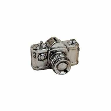 Kinder keramische zilveren fototoestel spaarpot