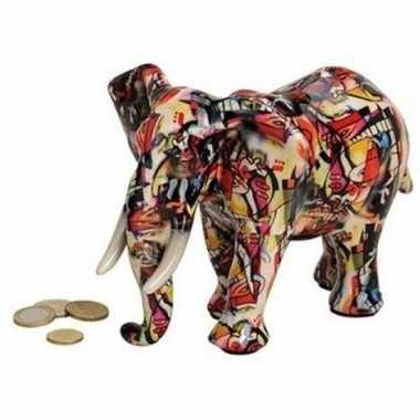 Kinder luxe spaarpot olifant rood keramiek