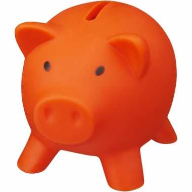 Kinder mini spaarvarken/spaarpot oranje