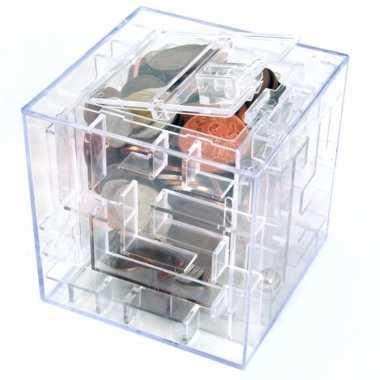 Kinder puzzel tranparante box spaarpot