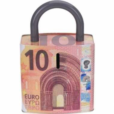 Kinder rode spaarpot euro biljet