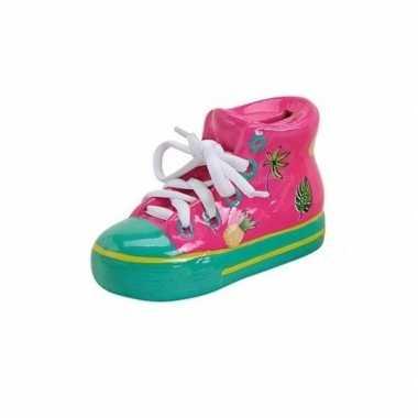 Kinder roze schoen spaarpot