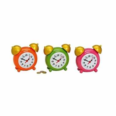 Kinder  Roze wekker spaarpot