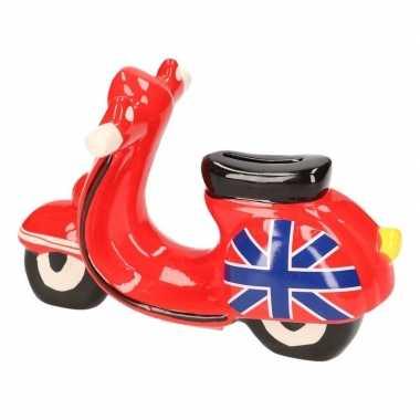 Kinder scooter spaarpot rood