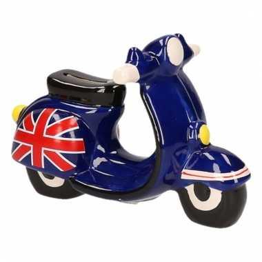 Kinder scooter spaarpot zwart