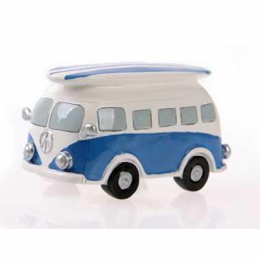 Kinder  Spaarpot Blauw VW busje