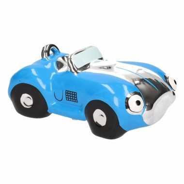 Kinder spaarpot blauwe sportauto cabriolet