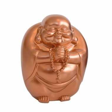 Kinder spaarpot boeddha koper kleur