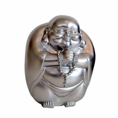 Kinder spaarpot boeddha zilver