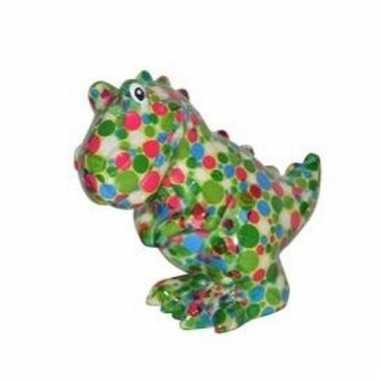 Kinder spaarpot dinosaurus gekleurde stippen