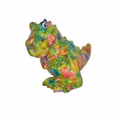 Kinder spaarpot dinosaurus groen